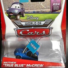 DISNEY PIXAR CARS MODELLINI: MATTHEW TRUE BLUE McCREW FAN DI KING
