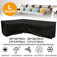Waterproof Garden Outdoor Large L Shape Lounge Seat Couch Furniture Sofa Cover