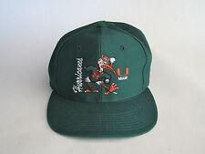 Green University of Miami Hurricanes Baseball Cap Adjustable Collegiate Licensed