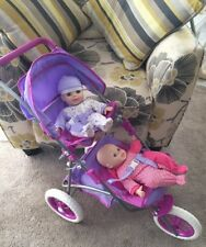 You & Me Twin Doll Jogger Stroller w/ 2 Baby Dolls Nice by Toysrus