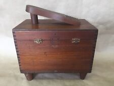 Antique Vintage Wooden Shoe Shine Box Unique Poland
