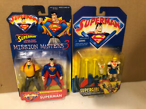 Lot of 2 Superman, Supergirl  Action Figures  DC Comics