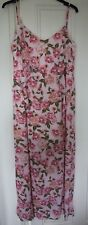 Oh My Love Pink Cami Maxi Dress With Frill Detail - Size Large   RRP £35