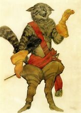Puss in Boots Costume Design by LEON BAKST Vintage Ballet Poster