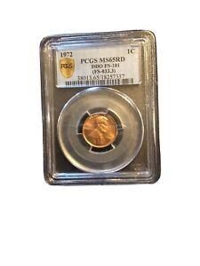 1972 1c  Huge Doubling DDO PCGS65 Rd  FS-101 FS-033.3+Bonus Coin Storage Box