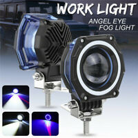 "3"" Inch LED Work Light Bar Spot Angel Eye Driving Fog Lamp Car Offroad 4WD IP Jf"