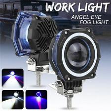 "3"" Inch LED Work Light Bar Spot Angel Eye Driving Fog Lamp Car Offroad 4WD IP LB"