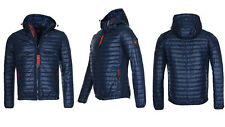 Geographical Norway Men's Jacket Quilted Parka Between-seasons Softshell Mix 3xl Navy