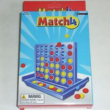 Match4 Connect 4 Four Checkers Win Portable Travel Size Family Fun Kids Toy Game