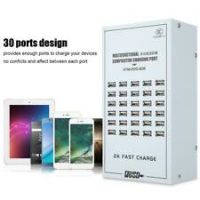 30-Port USB Hub Charger Power Adapter Wall Fast Charging Dock Station 200W