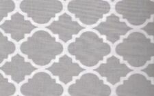 New - Quatrefoil In Gray And White Quilting Cotton Fabric By The Yard