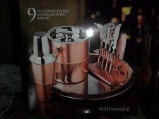 NEW Godinger 9 pc Copper Finish Stainless Steel Bar Set MSRP $140