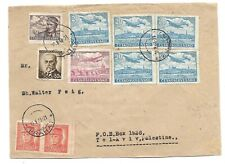 Czechoslovakia Old Cover Sent to Tel Aviv Palestine Great Franking 1948