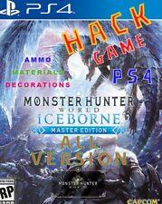 MONSTER HUNTER WORLD ICEBORNE PS4 HACK GAME MAX MONEY/POINTS/LEVEL/MATERIALS