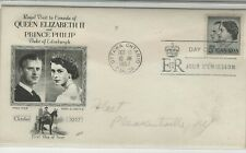 Canada 1957 First Day Cover Queen Elizabeth & Prince Phillip