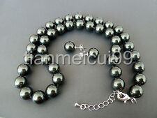 """New green Black Genuine South Sea Shell Pearl Necklace 18"""" AAA"""