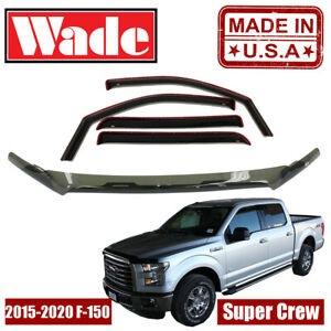 Ford F-150 Super Crew 2015 - 2020 Wind Deflector & Bug Shield Combo