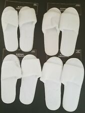 Ladies Open Toe White Slippers, Select: Size