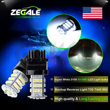 2X 3157 Daytime Running DRL White 6000K 45SMD 3528Chip LED Lights Bulbs Lamps