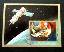 Umm Al Qiwain-1972-Soviet Space Station Minisheet-Imperf Used