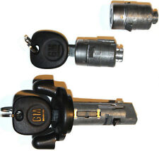 NEW CHEVROLET OEM IGNITION SWITCH LOCK CYLINDER + 2 DOOR LOCK CYLINDER + 2 KEYS