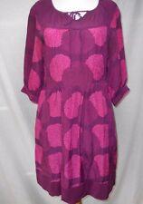 Girls from Savoy Anthropologie Bouquet Toss Dress Sz 4 100% Silk Purple Magenta