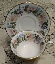 Paragon Bone China Country Lane Footed Cup & Saucer Honeysuckle Vintage
