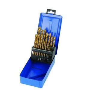 PUNTE PER ferro  TRAPANO  HSS rivestite in titanio 19 p.zi Ultra-duro e acciaio