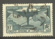 "FRANCE STAMP TIMBRE N° 321 "" TRAVERSEE ATLANTIQUE SUD 10F VERT "" OBLITERE TB"