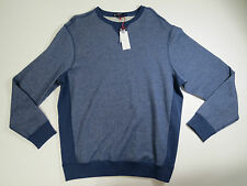 sweater sweatshirt Cremieux Classics Mens Heather Navy Blue Thick Knit Top SZ XL