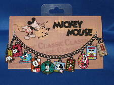 DISNEY Parks Classic Retro MICKEY MOUSE Charm Bracelet with Postcard  - NEW