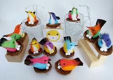 12 ARTIFICIAL BIRDS ORNAMENTS FOAM FLORAL CRAFTS DECORATIVE WEDDING MULTI COLOR