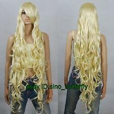 100cm/ 40'' Fashion Blonde Long Curly Anime Cosplay Party Costume Hair Full Wig