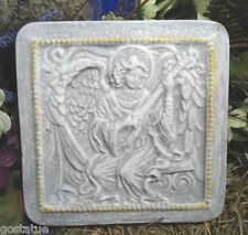 """angel playing guitar plastic mold concrete mould 8"""" x 8"""" x 1"""""""