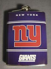 NEW YORK GIANTS LOGO 8oz STAINLESS STEEL FLASK NEW NFL