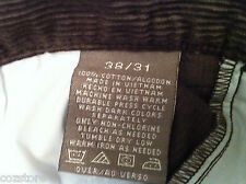 Haggar Corduroy Classic Fit Pleated Khaki Pants Mens Size 38 X 30