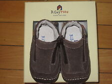 VGC Riley Roos Girls Brown Suede Soft Sole Boots / Shoes 3-6 mos