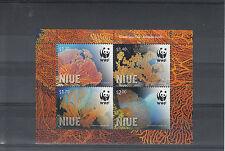 Niue 2012 MNH Giant Sea Fan 4v Sheet WWF Annella Mollis