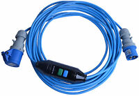 All Lengths Caravan Hook Up Lead Cable With In-Line RCD 16A Site Extension Lead