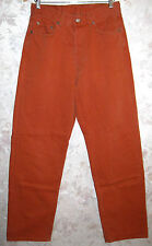 Men's Levi's 527 Rare Jeans OrangeRed Italy Button Fly Straight Leg W32 L32