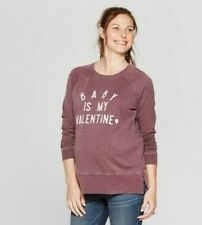 NWT Isabel Maternity Long Sleeve Shirt Baby is My Valentine Sweatshirt XS