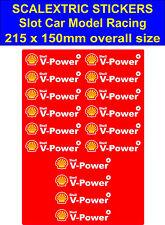 Slot Car Scalextric Pegatinas Modelo carrera Shell V-Power Logo 4 Lego Ferrari Calcomanía