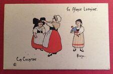 CPA. Illustrateur DELALAIN. La Cocarde. Série AL. N°65. En Alsace Lorraine.