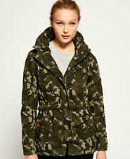 Superdry Rookie Tall Collar Parka Coats Xxs-army Camo