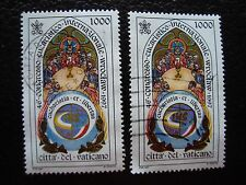 VATICANO - sello yvert y tellier nº 1080 x2 matasellados (A28) stamp (E)