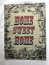Vintage Retro olde worlde Home sweet home A5 metal sign house gift idea design