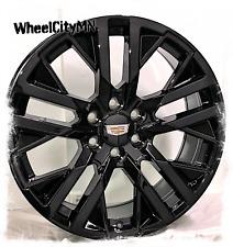 24 Inch Gloss Black 2021 Cadillac Escalade Next Gen Oe Replica Wheels 6x55 31