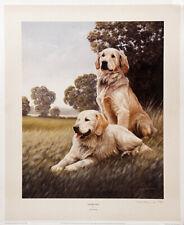More details for golden retriever gundog dog fine art limited edition print - nigel hemming