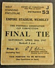 More details for burnley v charlton athletic match ticket f.a. cup final april 26th 1947 wembley.