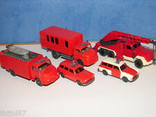 N°10 WIKING LOT DE 5 VEHICULES POMPIERS SECOURS ACCIDENTS ET NOYADES  HO